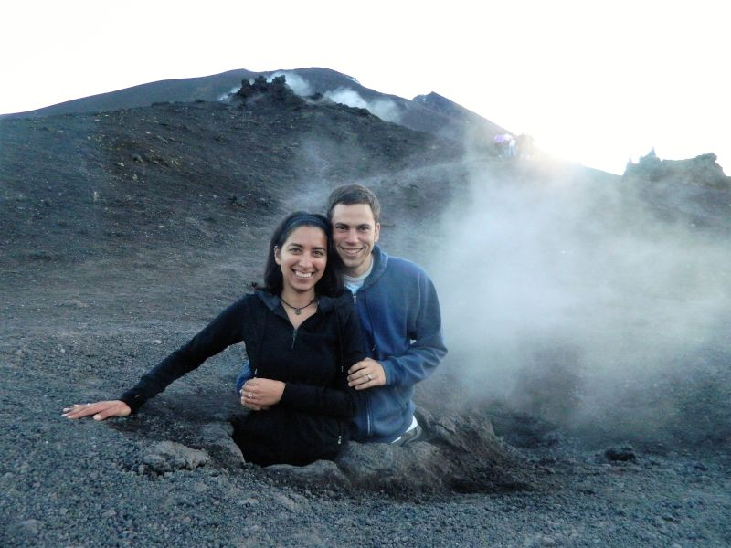 On Top of a Volcano in Guatemala