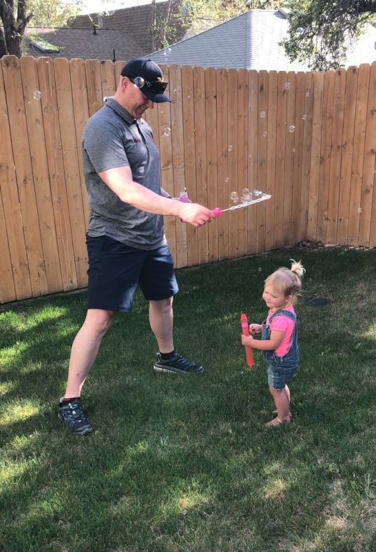 Blowing Bubbles in Our Backyard