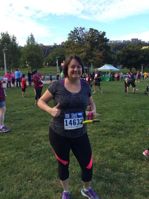 Liz Running a 5K