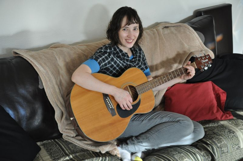 Jessica Loves to Play Guitar