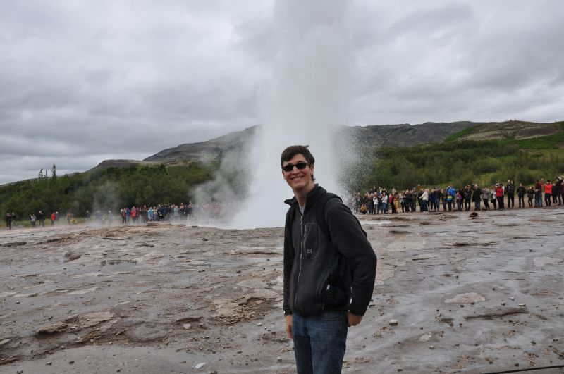 Checking Out the Geysers in Iceland