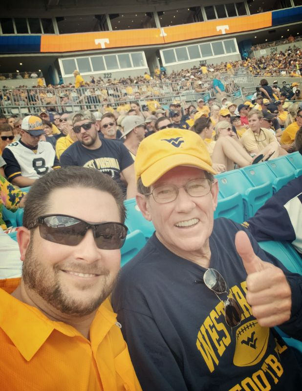 Travis & His Dad at a Mountaineer Game