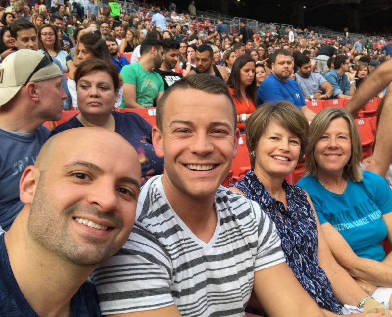 At a Coldplay Concert With Family & Friends