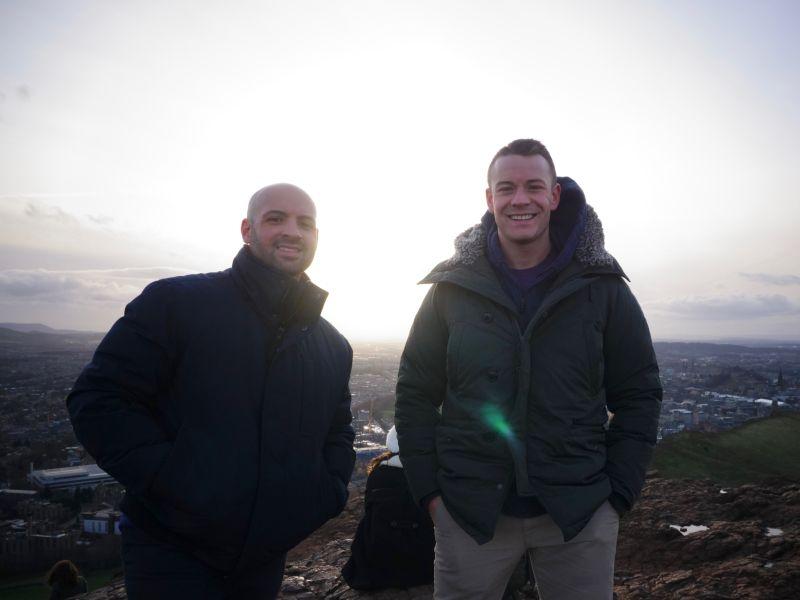 On Top of a Mountain in Edinburgh