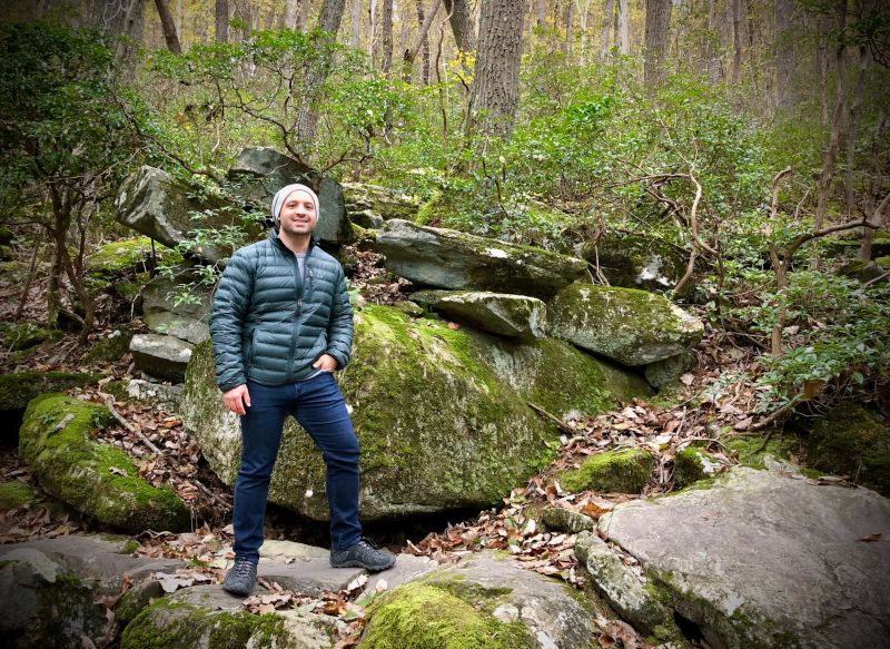 Mike Hiking in Upstate Maryland