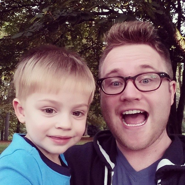 Chris with Our Nephew