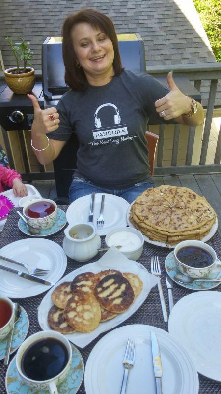 Enjoying Moldovan Food