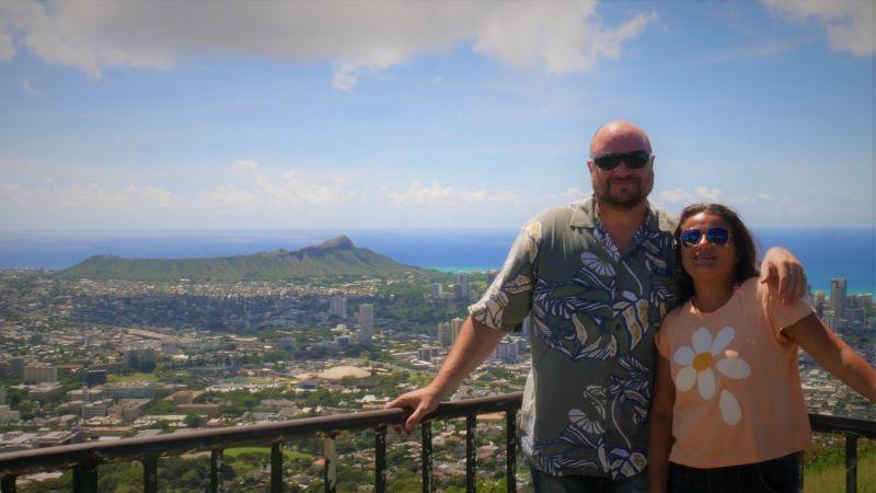 Overlooking Diamondhead in Hawaii