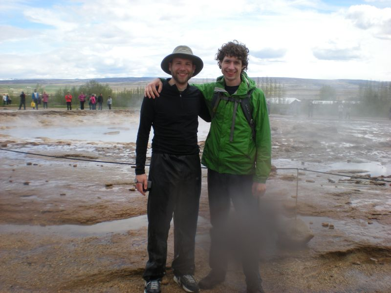 Darren & His Brother at a Geyser in Iceland