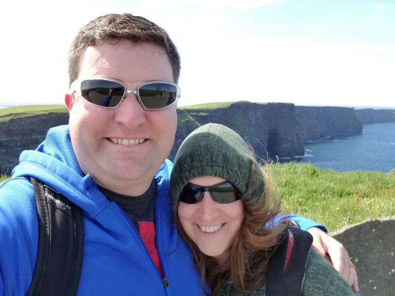 Enjoying the Scenery at the Cliffs of Moher
