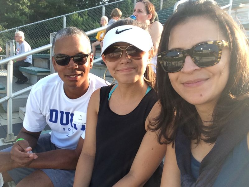 Catching a Baseball Game with Our Goddaughter