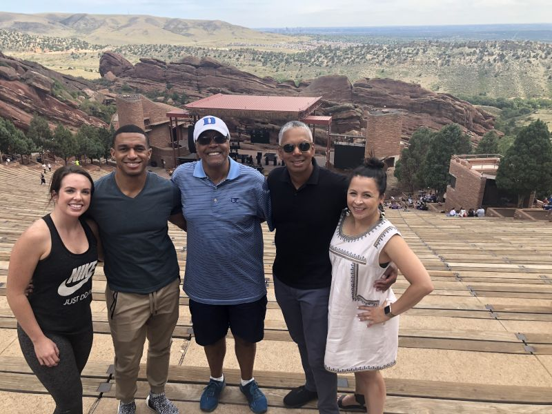 Visiting Red Rocks in Denver with Family