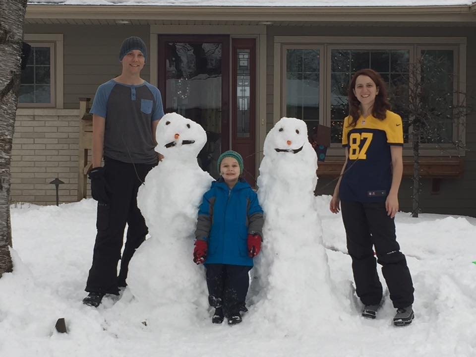 Building a Snowman with Our Nephew