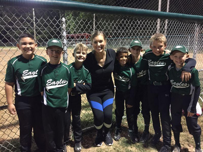 Ashlee at Her Students' Baseball Game