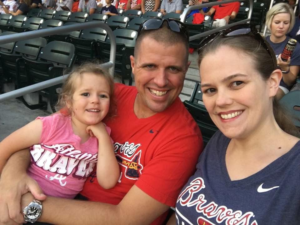 Enjoying a Braves Game