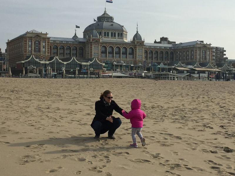We Love to Travel! On a Beach in Europe