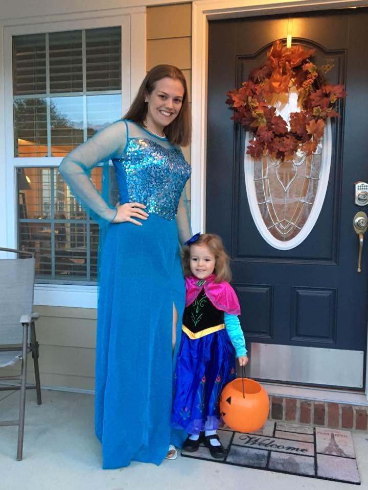 Elsa & Anna Trick-or-Treating