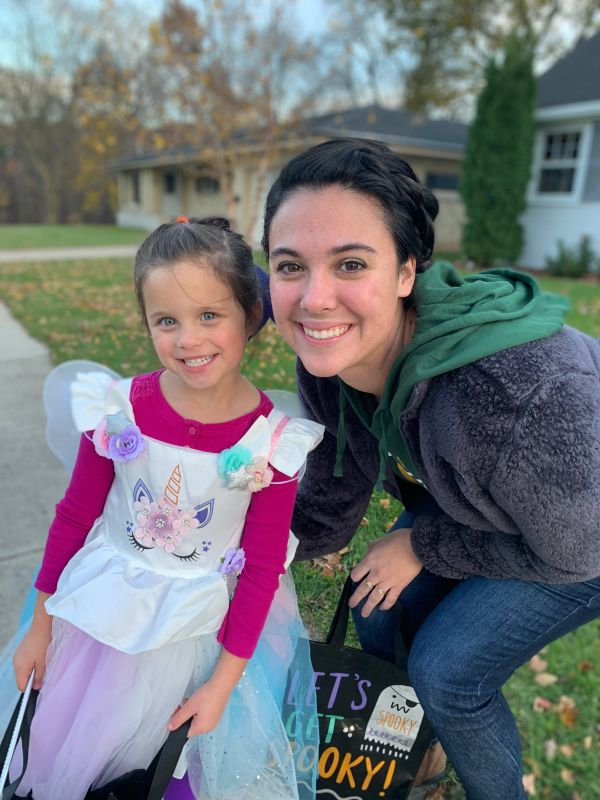 Trick-or-Treating With Our Niece