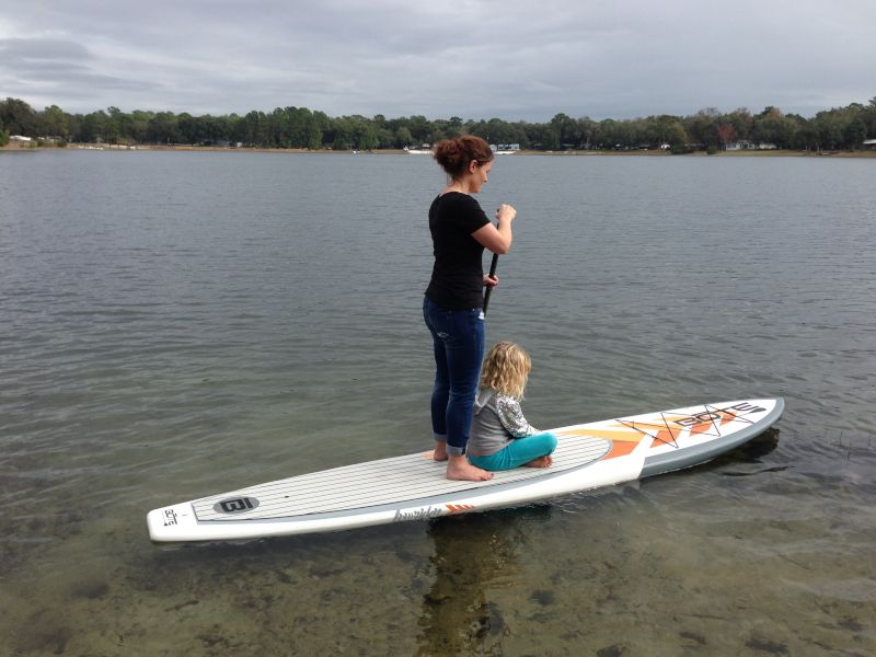 Paddleboarding With Our Niece
