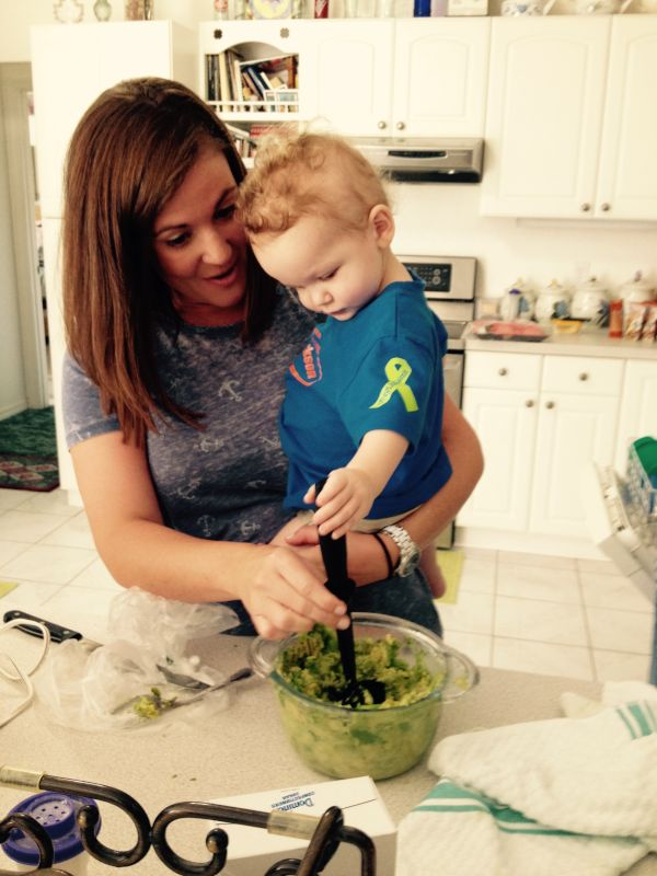 Making Guacamole With Our Nephew