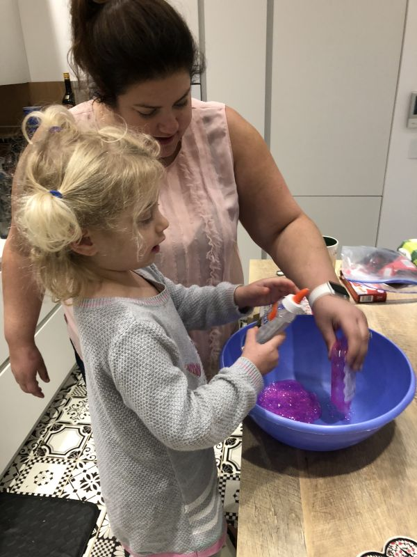 Making Slime with Keira
