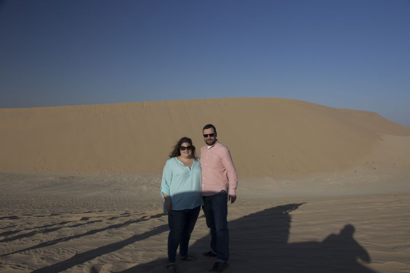 In the Desert in Abu Dhabi, United Arab Emirates