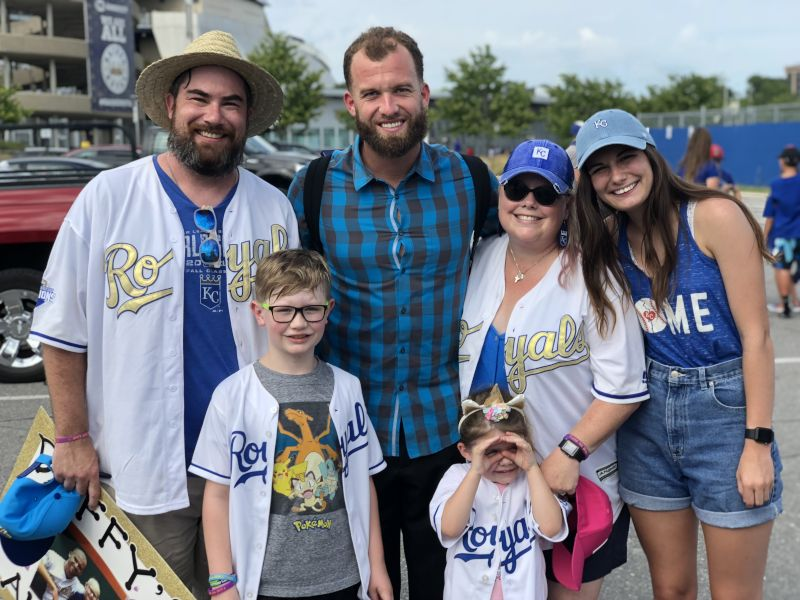 With Royals Pitcher Danny Duffy