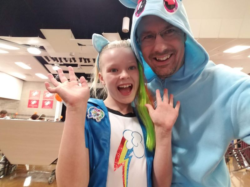 Our Whole Family was a Heard of My Little Ponies for Halloween