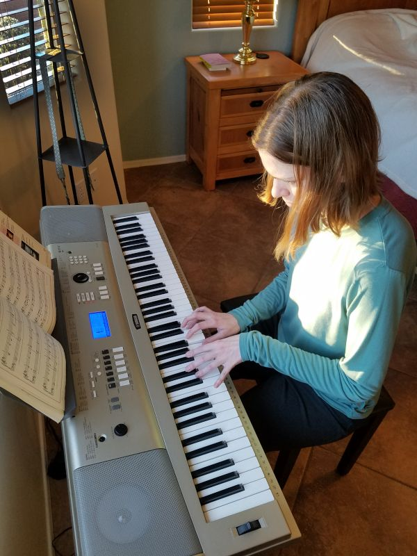 Julie Playing Piano