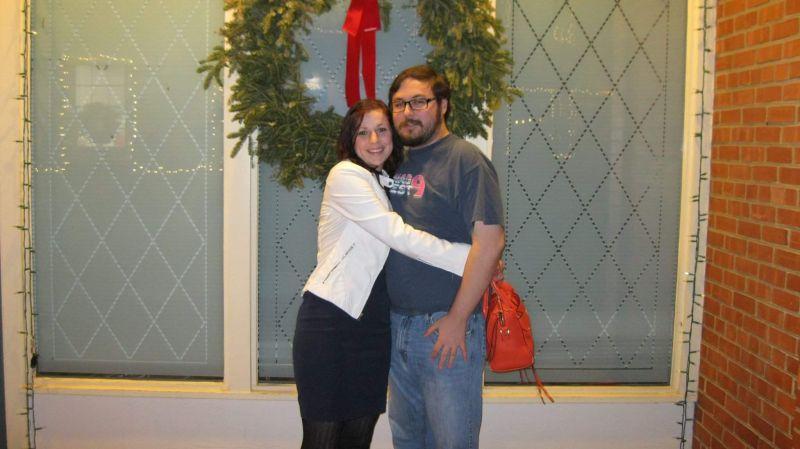 Christmas Dinner Celebration While Visiting Family