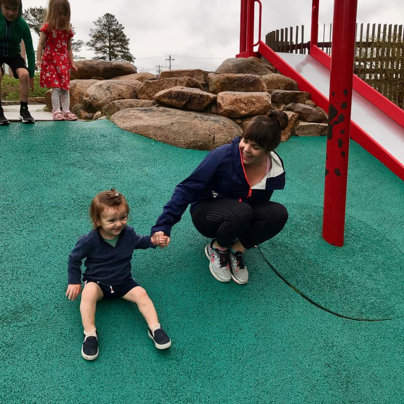 Playing at the Park with Our Godson