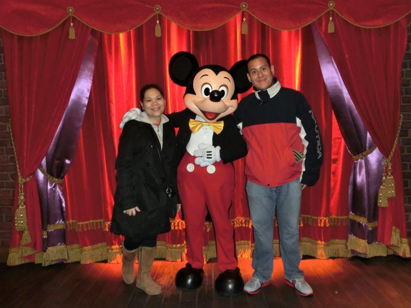 With Mickey at Disney World
