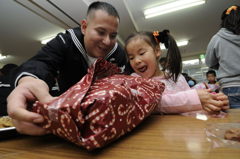Oscar Bringing Presents to an Orphanage in Japan