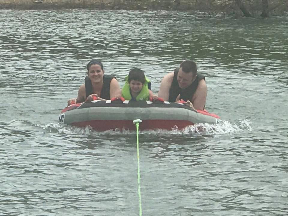 Tubing With Our Nephew