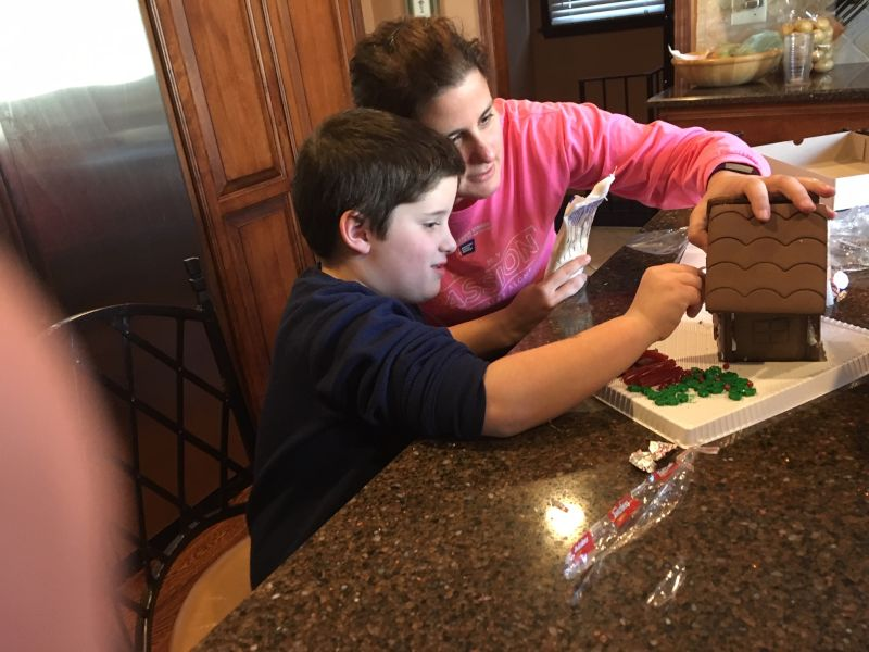 Building a Gingerbread House With Our Nephew