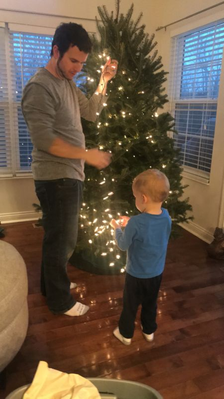 Decorating the Tree with Our Neighbor's Son