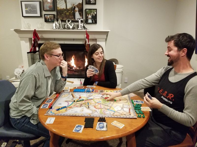 We Love to Play Board Games With Family & Friends