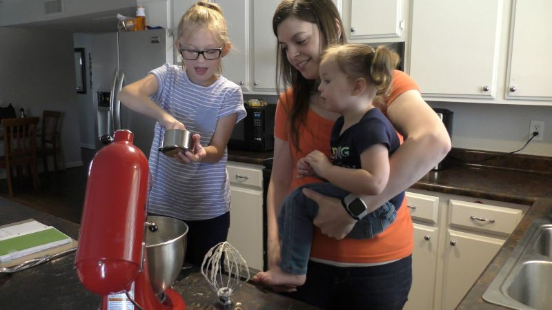 Melanie Baking With a Friend's Daughters