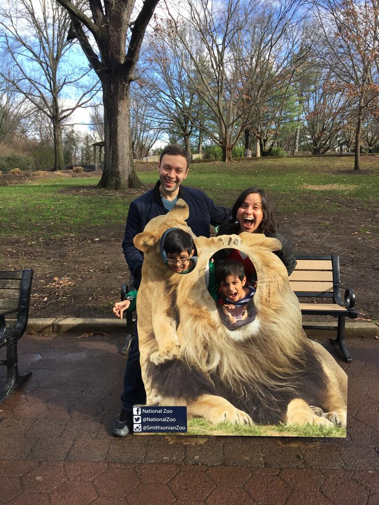 With Our Nephews at the National Zoo
