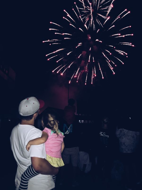 Charlie & Penny Watching Fireworks
