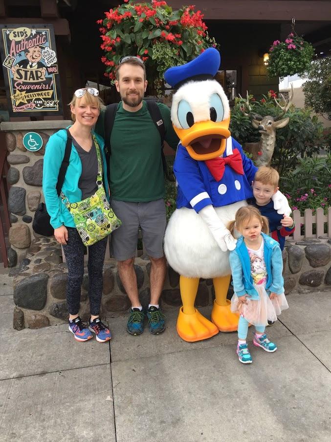 Meeting Donald at Walt Disney World