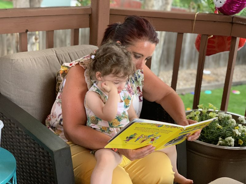 Andra Reading with Our Niece