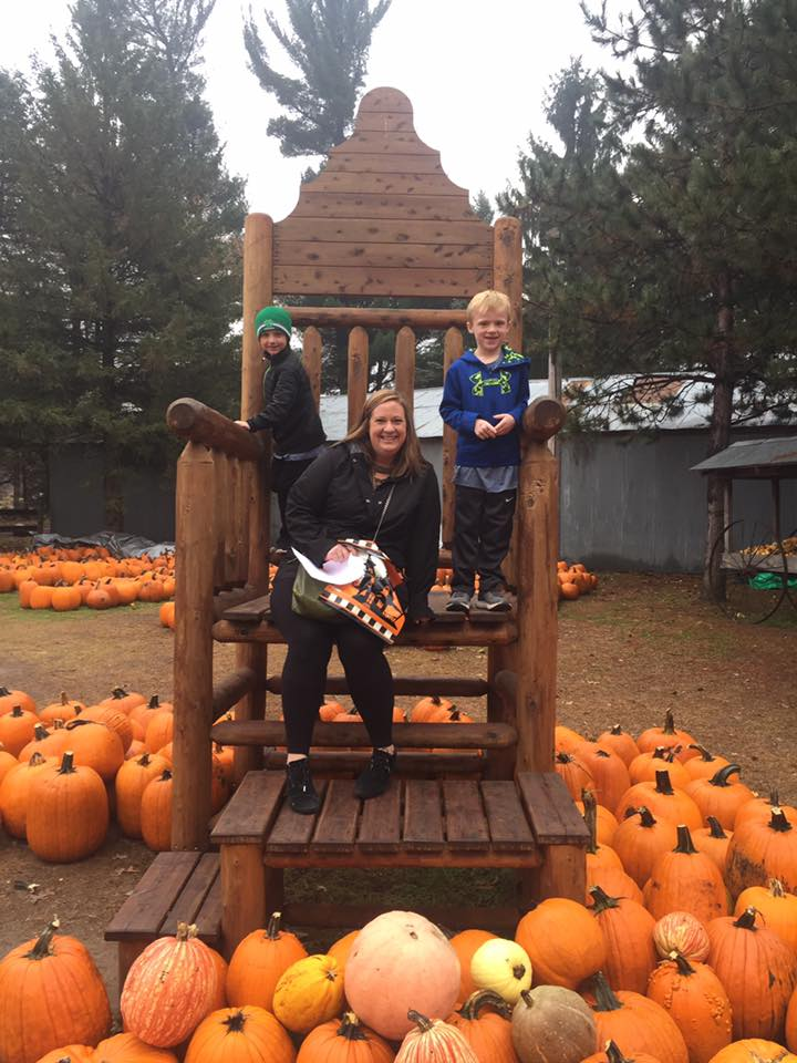 At the Pumpkin Patch With Our Nephews