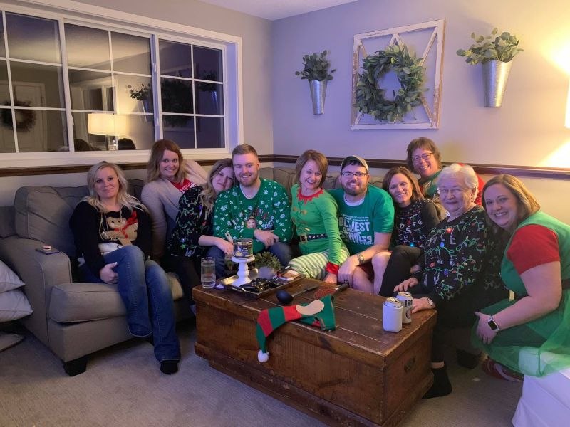 Family Ugly Christmas Sweater Party