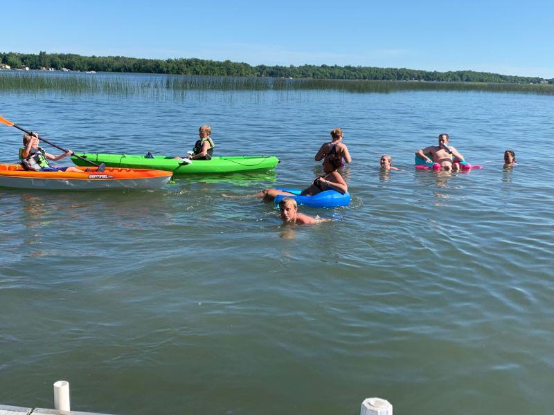 Having Fun at the Lake Cabin