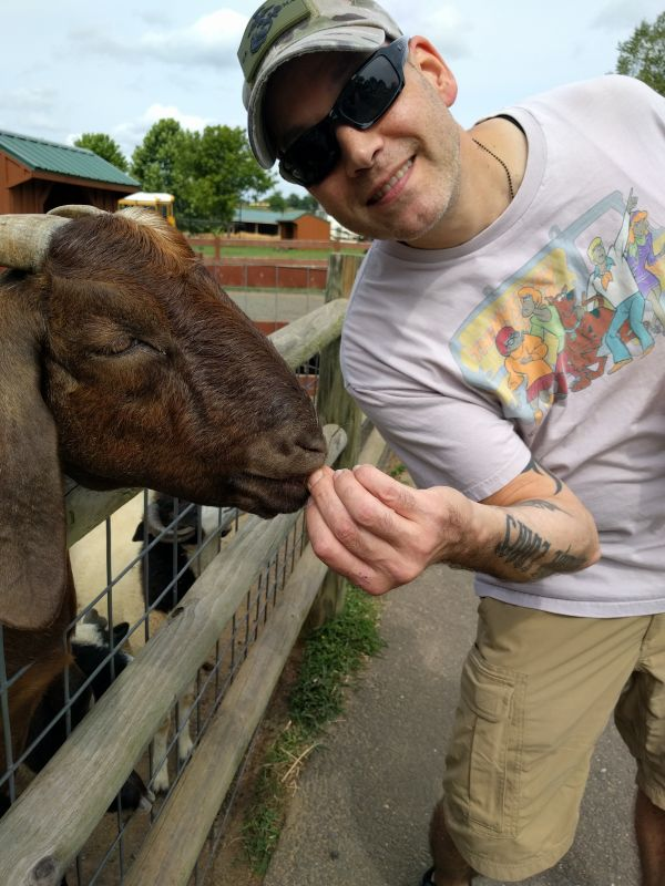 Pete at the Petting Zoo