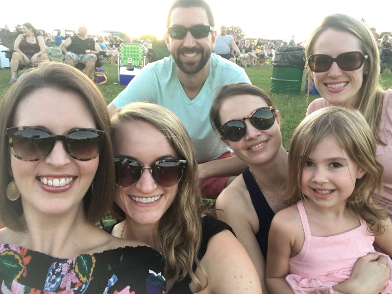 At a Concert in the Park With Friends