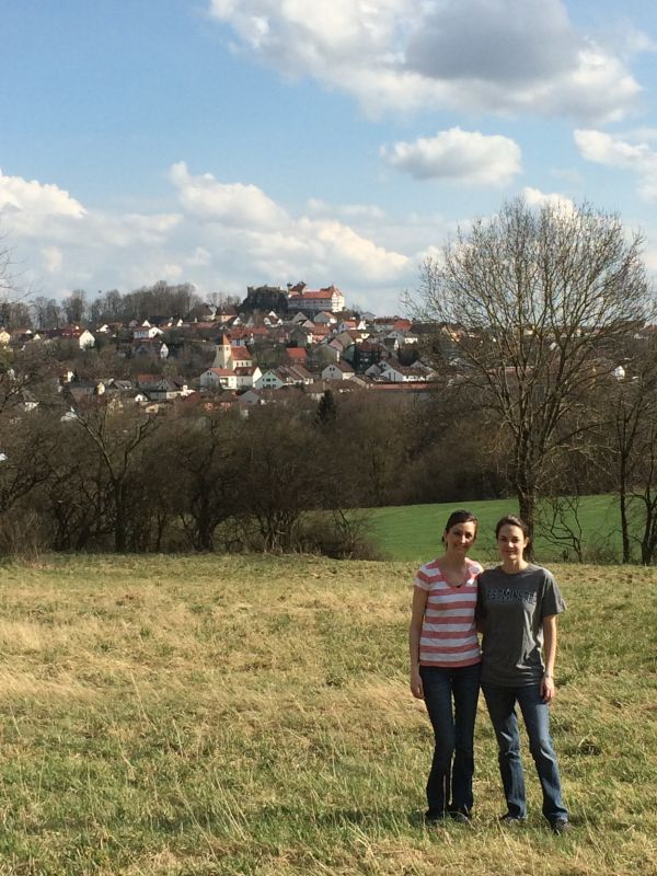 In Germany With My Friend Bethany