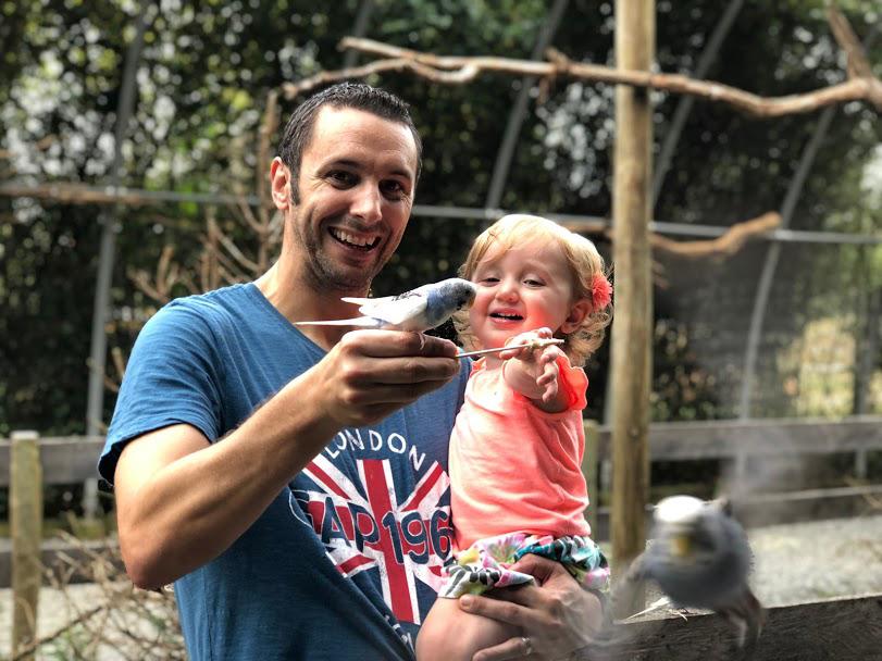 Feeding the Birds with Daddy