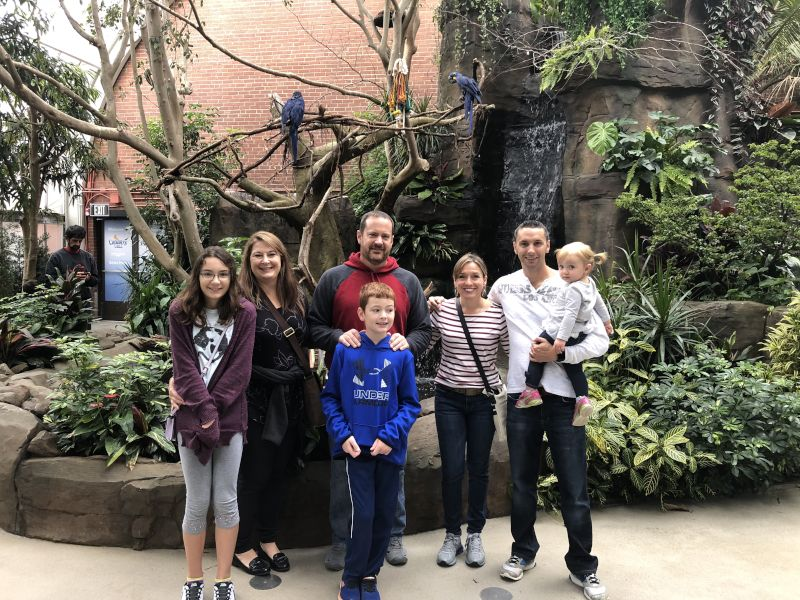Visiting an Aviary with Friends